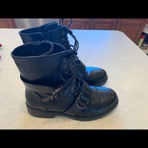Forevermore 21 biker boots black size 6 women